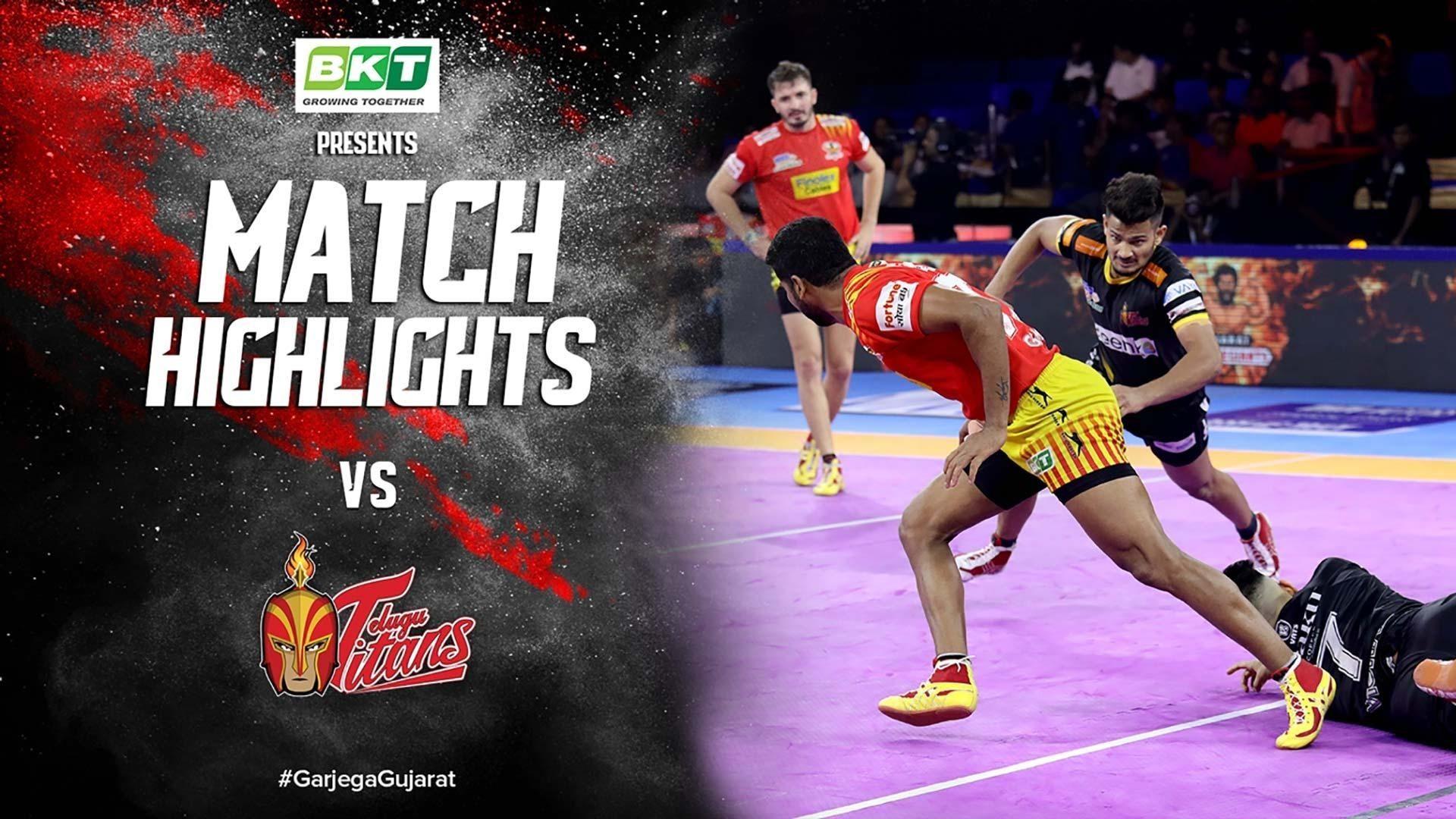 Match Highlights - Gujarat Fortune Giants vs Telugu Titans | Vivo Pro Kabaddi 2019