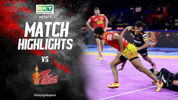 Match Highlights - Gujarat Fortune Giants vs Telugu Titans | Vivo Pro Kabaddi 2019
