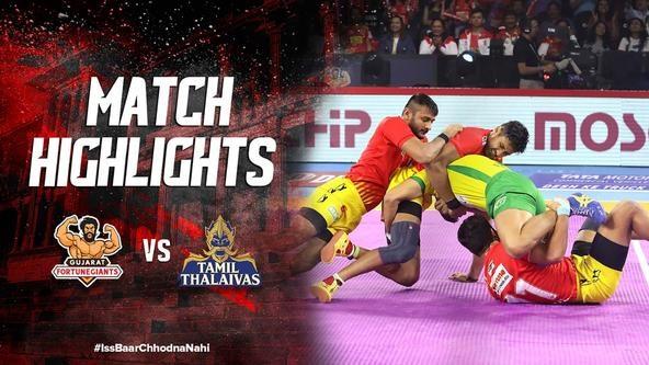 Match Highlights - Gujarat Fortune Giants v Tamil Thalaivas | Vivo Pro Kabaddi 2019