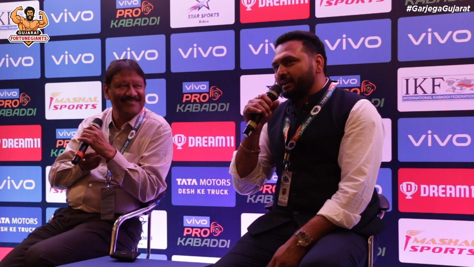 Manpreet Singh At VIVO Pro Kabaddi Season 7 Auction