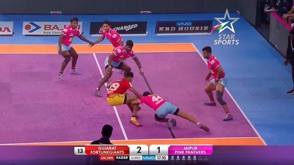 Jaipur Pink Panthers vs Gujarat FortuneGiants