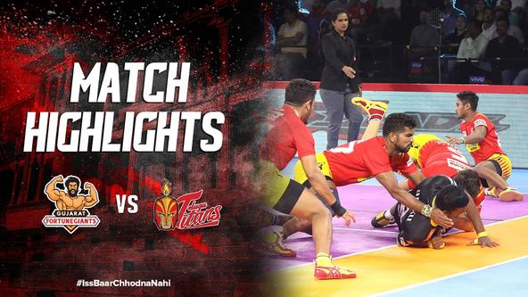 Match Highlights - Gujarat Fortune Giants v Telugu Titans | Vivo Pro Kabaddi 2019