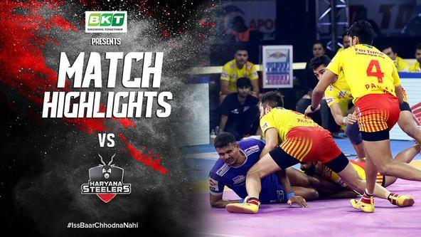Match Highlights - Gujarat Fortune Giants v Haryana Steelers | Vivo Pro Kabaddi 2019