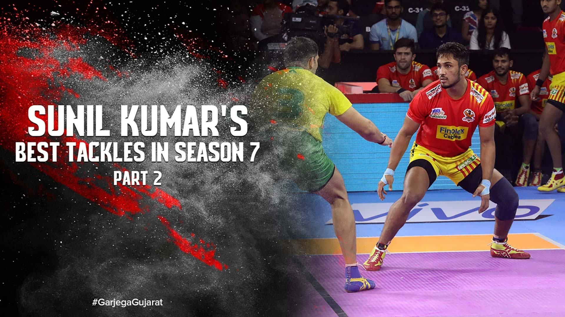 Sunil Kumar's Best Tackles In Season 7   Vivo Pro Kabaddi 2019
