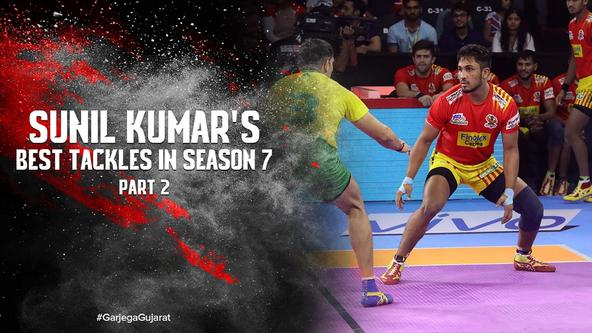 Sunil Kumar's Best Tackles In Season 7 | Vivo Pro Kabaddi 2019